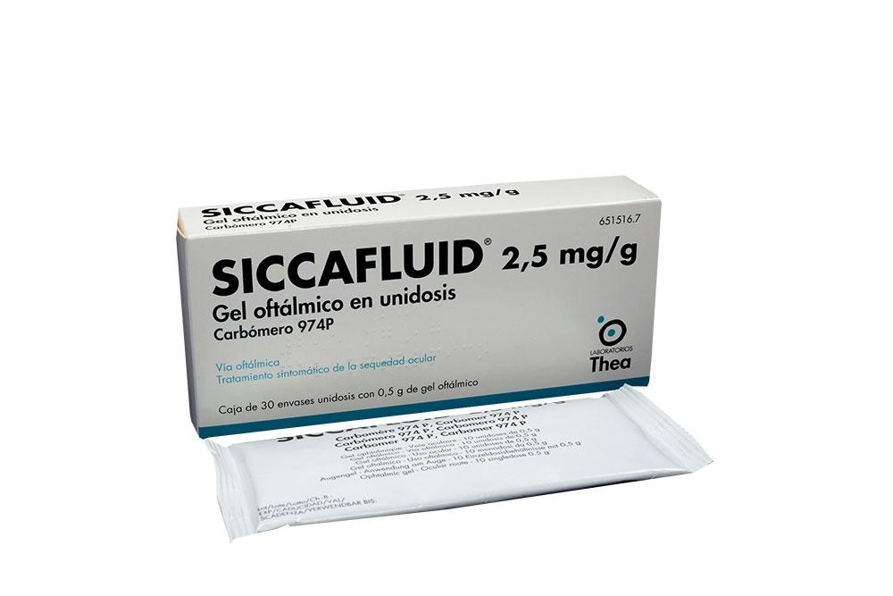 Siccafluid 2.5 mg / g Gel Oftálmico Caja Con 30 Monodosis Rx