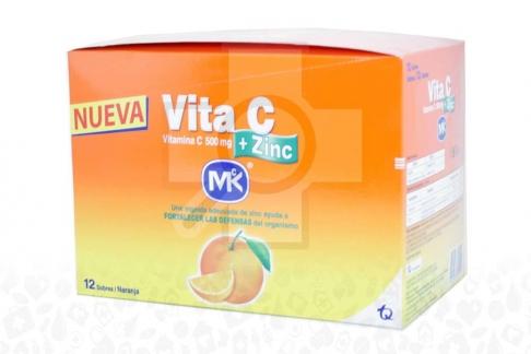 Vita C + Zinc 500 mg Caja x 12 Sobres
