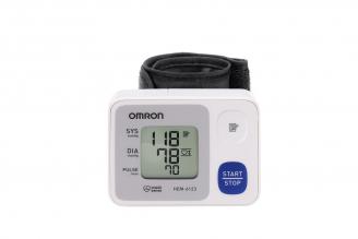 Omron Monitor de Presión Arterial de Muñeca Automático HEM-6123-LA Caja Con 1 Unidad