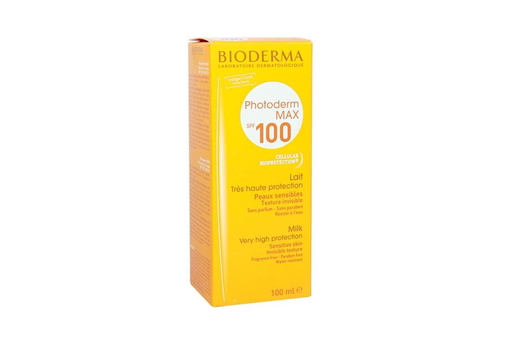 Protector Solar Bioderma Photoderm MAX SPF 100 Caja Con Frasco Con 100 mL