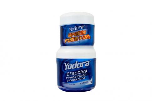 Desodorante Yodora Clásico Crema Frasco Con 60 g + 32 g