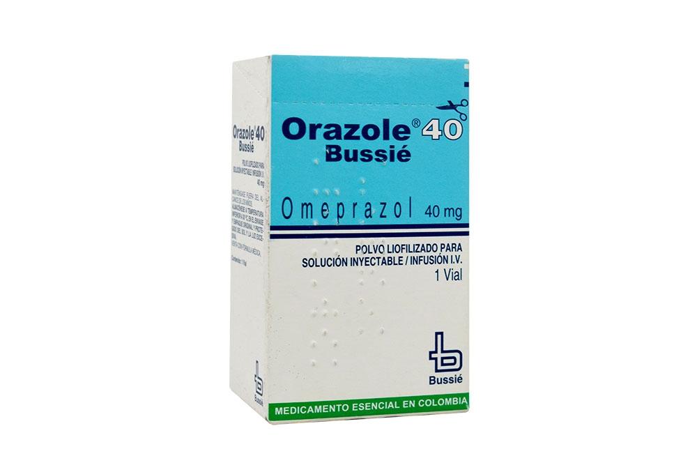 Orazole Solución Inyectable 40 mg Caja Con 1 Vial Rx