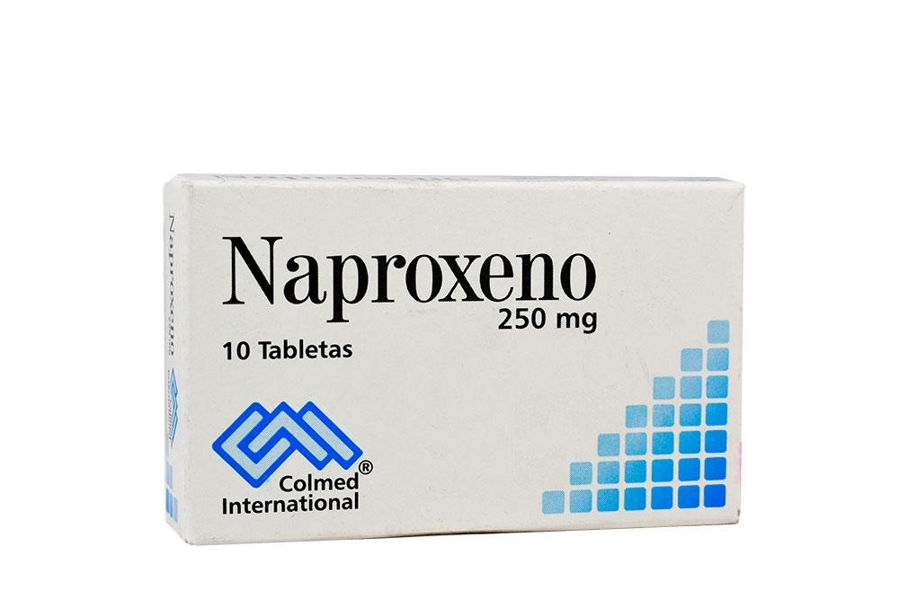 Naproxeno 250 mg Caja Con 10 Tabletas