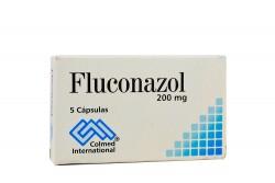 Fluconazol 200 mg Caja x 5 Cápsulas Rx