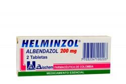 Helminzol 200 mg Caja x 2 Tabletas Rx