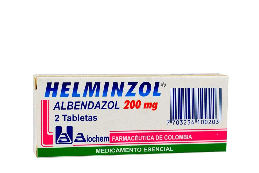 Helminzol 200 mg Caja Con 2 Tabletas Rx