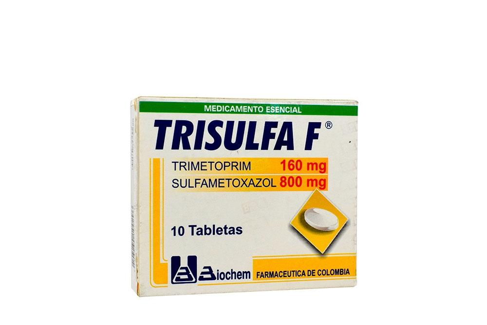 Trisulfa F 160 / 800 mg Caja Con 10 Tabletas Rx2