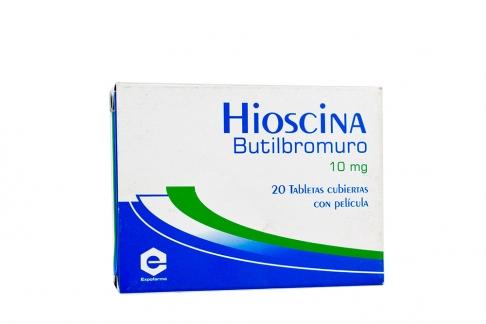 Hioscina 10 mg Caja Con 20 Tabletas Cubiertas Con Película