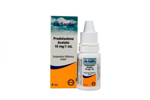 Prednisolona Suspensión Oftalmica 10 mg / 1 mL Caja Con Frasco 5 mL Rx