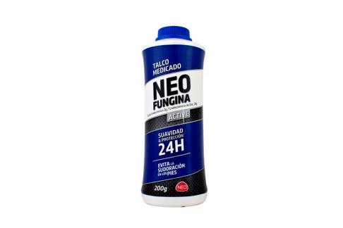 Talco Medicado Neo Fungina Active Frasco Con 200 g