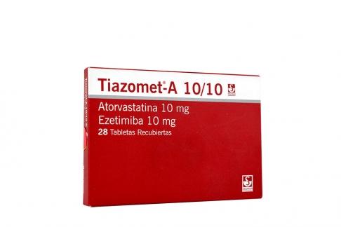 Tiazomet-A 10 / 10 mg Caja Con 28 Tabletas Recubiertas Rx4