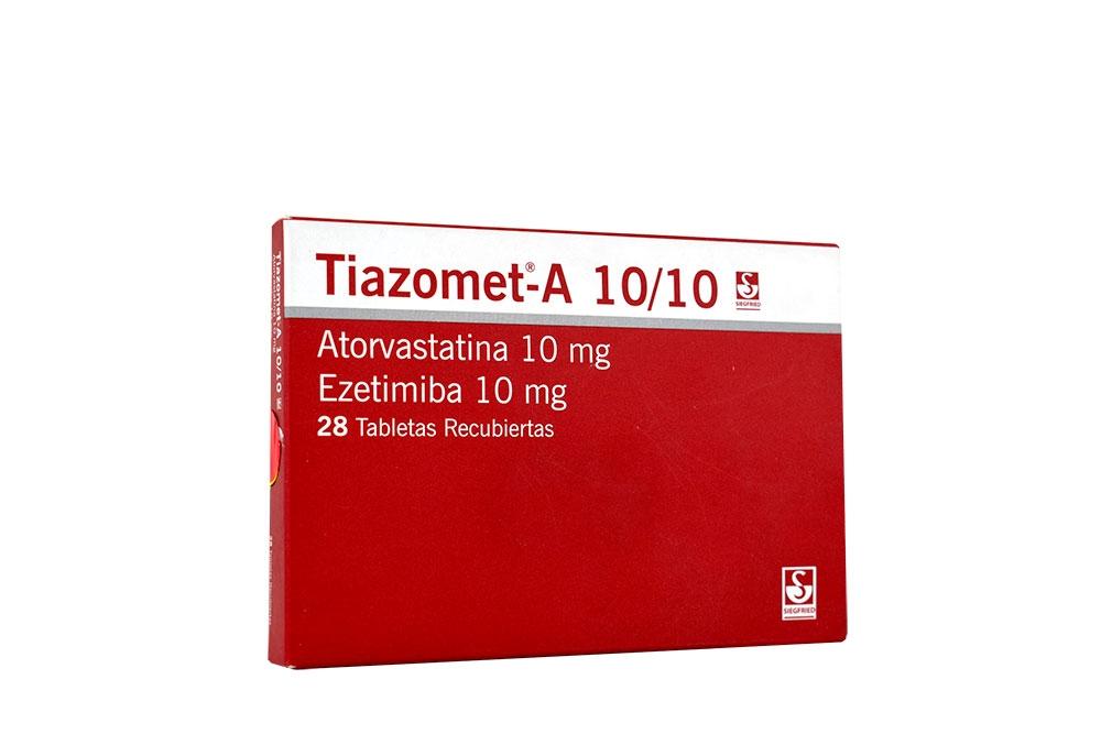 Tiazomet-A 10 / 10mg Caja Con 28 Tabletas Recubiertas Rx4