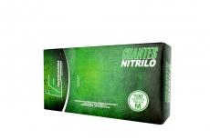 Guante Nitrillo Color Verde Talla L (7½) Caja Con 100 Unidades