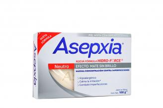 Asepxia Neutro Efecto Mate Sin Brillo Caja Con Barra Con 100 g