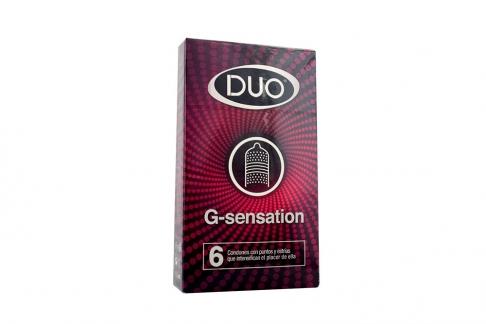 Preservativos Sanamed Duo G-Sensation Caja Con 6 Unidades