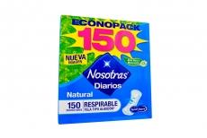 Protector Nosotras Respirables Empaque Con 150 Unidades