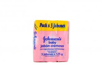 Jabón Johnson's Cremoso Empaque Con 3 Unidades Con 125 g