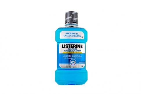 Enjuague Bucal Listerine Control Cálculo Frasco Con 360 mL - Menta Fría