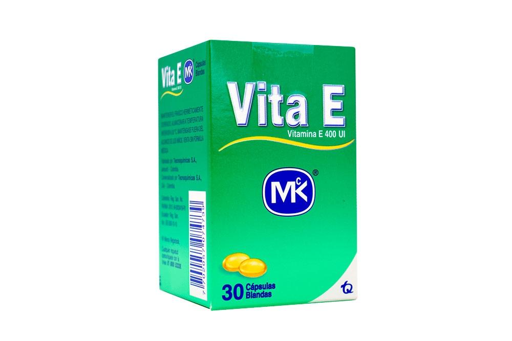 Vita E 400 U.I Caja Con 30 Cápsulas Blandas