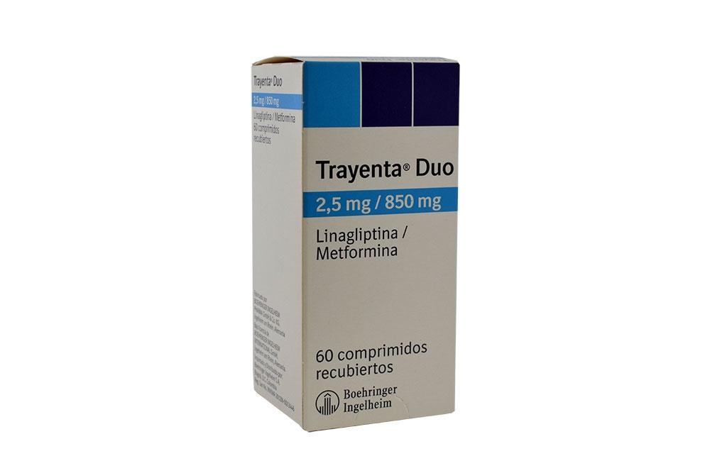 Trayenta Duo 2,5 / 850 mg Caja Con 60 Comprimidos Recubiertos Rx4
