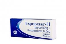 Expopress H 50 / 12.5 mg Caja Con 30 Tabletas Recubiertas Rx