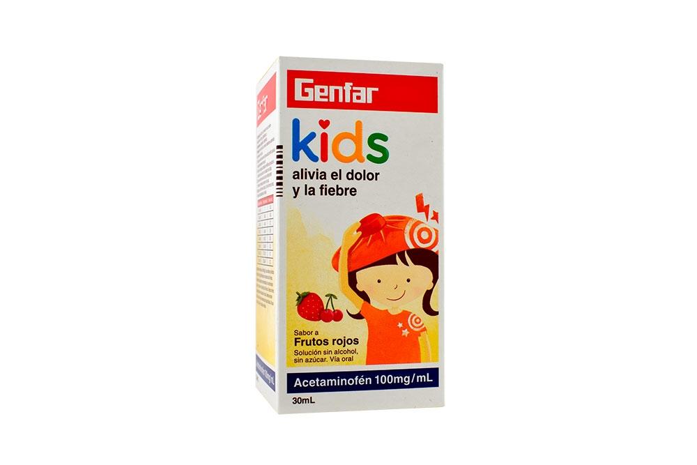 Acetaminofén Gotas 100 mg / mL Caja Con Frasco Con 30 mL - Sabor Frutos Rojos