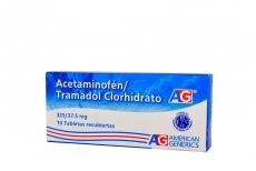 Acetaminofén / Tramadol Clorhidrato 325 / 37.5 mg Caja Con 10 Tabletas Recubiertas Rx