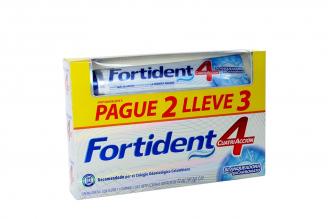 Crema Dental Fortident Con Flúor Caja Con Tubo Con 72 mL Pague 2 Lleve 3