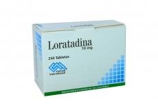 Loratadina 10 mg Caja Con 250 Tabletas Rx