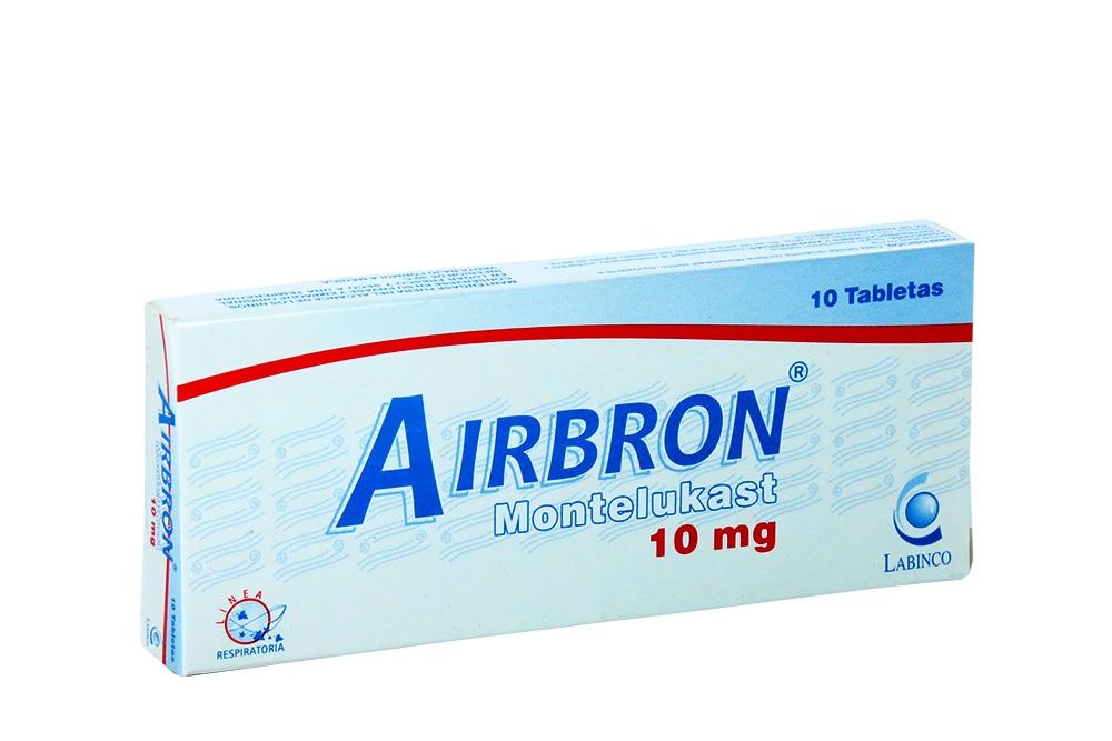 Airbron 10 mg Caja Con 10 Tabletas Rx