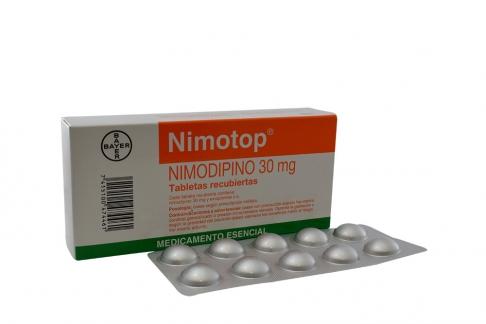 Nimotop 30 mg Bayer Caja Con 20 Tabletas Rx
