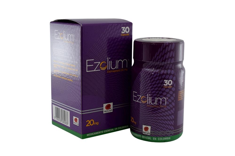Ezolium 20 mg Caja Con 30 Cápsulas Duras Rx