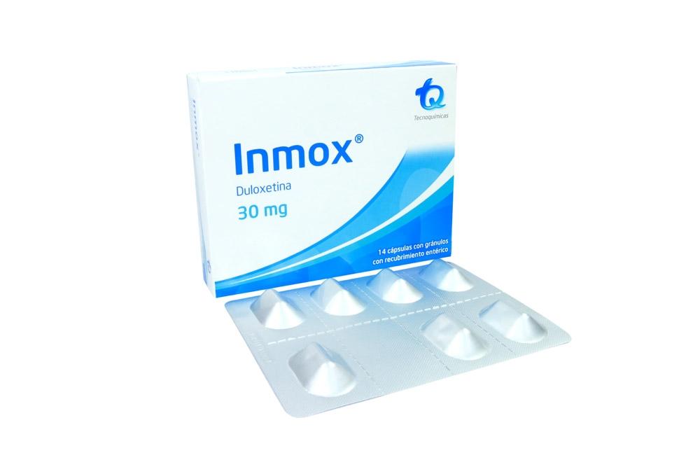 Inmox 30 mg Caja Con 14 Cápsulas Con Gránulos Con Recubrimiento Entérico RX4