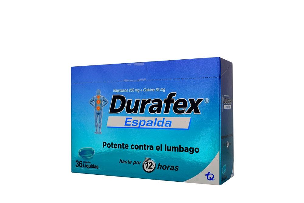 Durafex Espalda Caja Con 36 Cápsulas Líquidas –Potente Contra El Lumbago