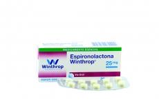 Espironola 25 mg Caja Con 20 Tabletas Rx