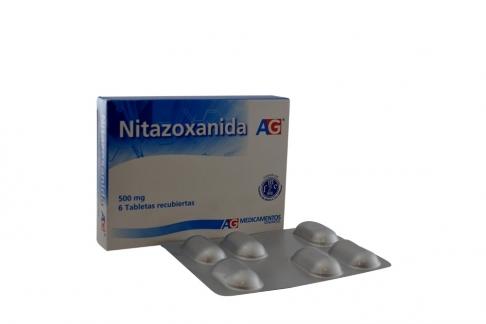 Nitazoxanida 500 mg Caja Con 6 Tabletas Recubiertas Rx