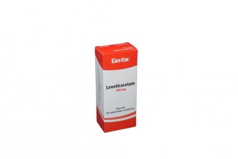 Levetiracetam 500 mg Caja x 30 Tabletas Rx4