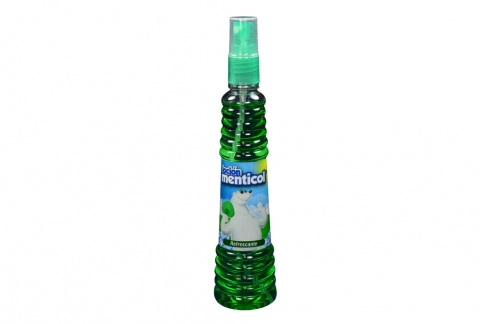 Loción Menticol Verde Refrescante Frasco Con Válvula 130 mL