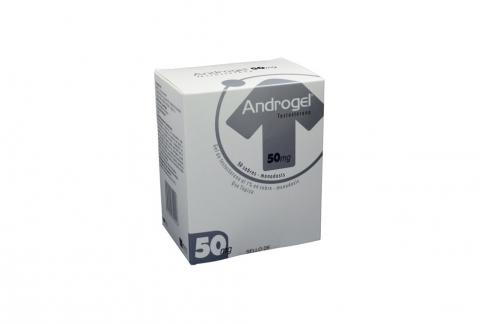 Androgel 50 mg Gel De Testosterona Al 1% Caja Con 50 Sobres Rx