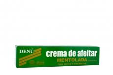 Crema De Afeitar Denú Mentolada Caja Con Tubo Con 45 g