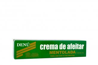Crema Para Afeitar Denú Mentolada Caja Con Tubo Con 45 g