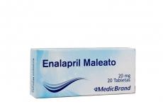 Enalapril 20 mg Medicbrand Caja Con 20 Tabletas Rx4