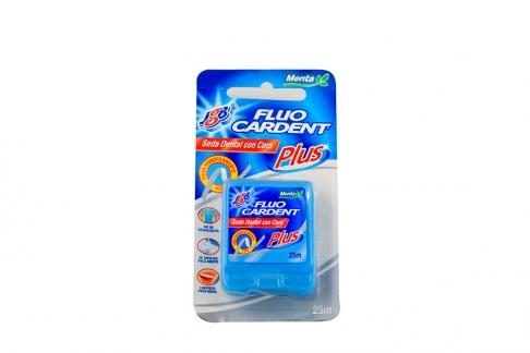 Seda Dental Con Cera Fluocardent Plus Empaque Con 1 Unidad Con 25 m