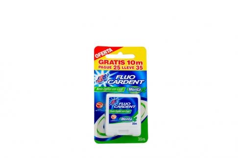 Hilo Dental Fluo Cardent  Caja x 35 m  Sabor A Menta