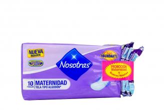 Toallas Nosotras Maternidad X 10 Unidades + Toallas Nosotras Buenas Noches x 3 Unidades