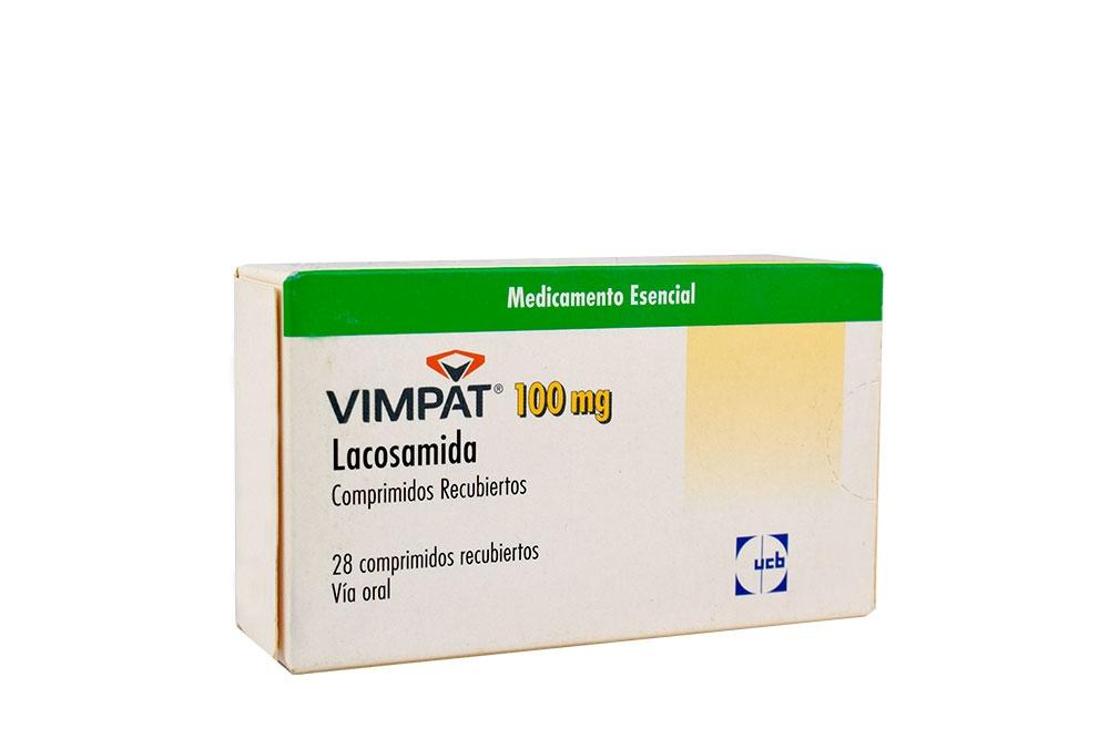 Vimpat 100 mg Caja Con 28 Tabletas Cubiertas Rx4
