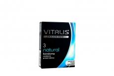 Condón Vitalis Natural Caja Con 3 Unidades