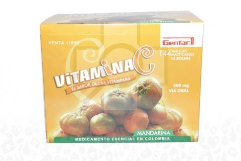 Vitamina C 500 mg Caja x 144 Tabletas Masticables