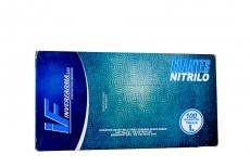 Guante Nitrilo Color Azul Talla L 8 1/2 Caja x 100 Pares