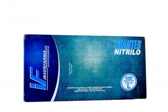 Guante Nitrilo Color Azul Talla L 8½ Caja Con 100 Unidades